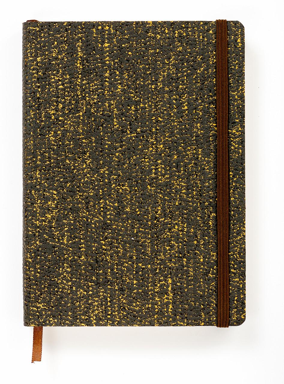 """Эко Ежедневник-мотиватор недатированный А5 """"Black Gold"""", мягкий книжный переплете + ручка, 368 стр."""