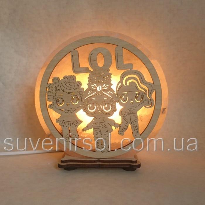Соляной светильник круглый ЛОЛ