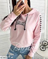 Женский свитшот с капюшон розовый 8 расцветок