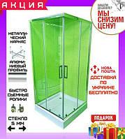 Квадратная душевая кабина 80х80 см Veronis KNS-80 прозрачное стекло