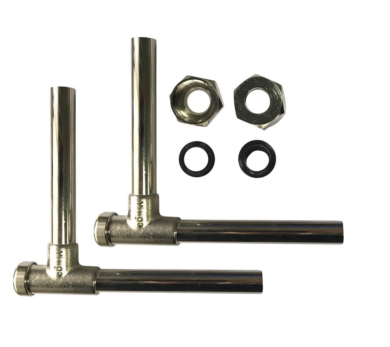 Viega (360399 )Ф15 3/4x120/120 Кран д/рад угловой п/ключ никель в комплекте с трубками