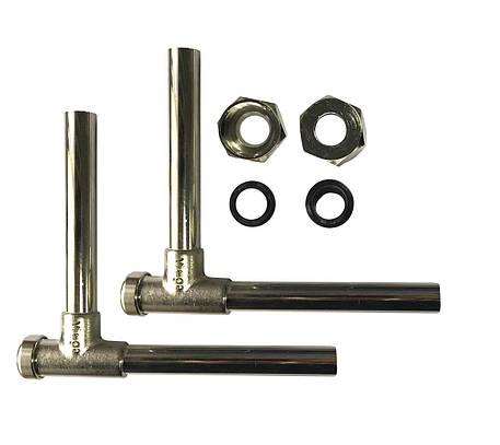 Viega (360399 )Ф15 3/4x120/120 Кран д/рад угловой п/ключ никель в комплекте с трубками, фото 2