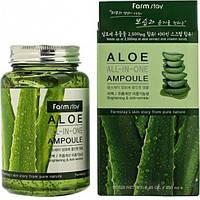 Сыворотка для лица все в одном с алое FarmStay Aloe All In One Ampoule 250 мл