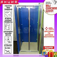 Душевая дверь 100х190 см Atlantis ZDM-100-2 профиль хром/стекло прозрачное