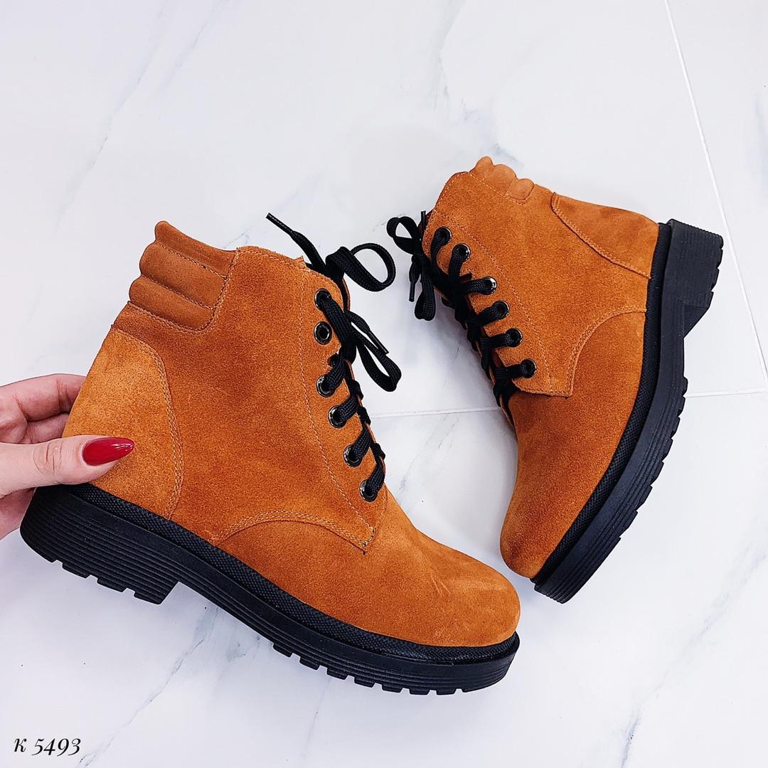 Ботинки горчичного цвета