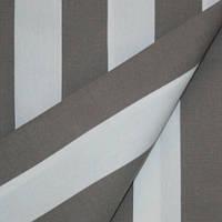 Дралон полоса молочный/серый тефлон