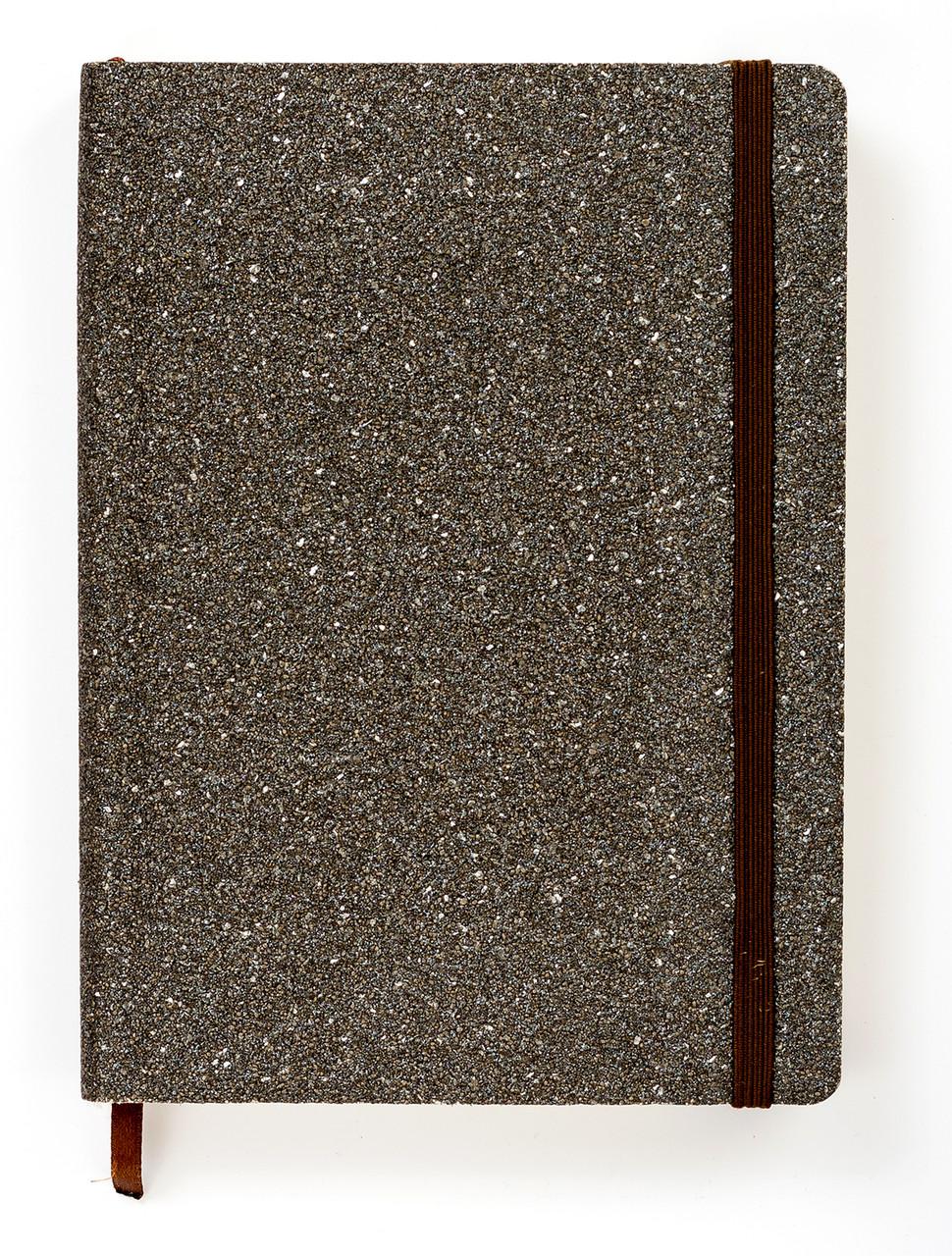 """Каменный Ежедневник-мотиватор с недатированный А5 """"Stone Cobalt"""", мягкий книжный переплет + ручка, 368 стр."""