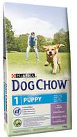 Purina Dog Chow Puppy корм для щенков и собак мелких пород с ягненком 14 кг