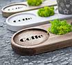 Подставка деревяная разных оттенков (с мохом), фото 3