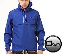 Синяя куртка ветровка анорак Fred Perry есть опт