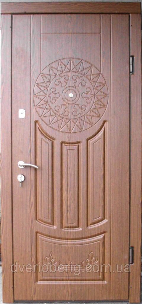 Входная дверь модель П2-круг дуб рустикаль