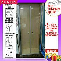 Душевая дверь в нишу 80х190 см Atlantis ACB-30-80 профиль хром/стекло прозрачное
