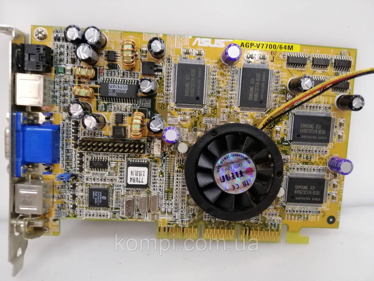 Видеокарта NVIDIA GeForce2 GTS(ASUS V7700)  32Mb  AGP