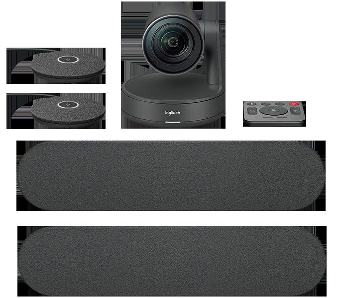 Управляемая веб-камера Logitech Rally Plus с 2 спикерфонами