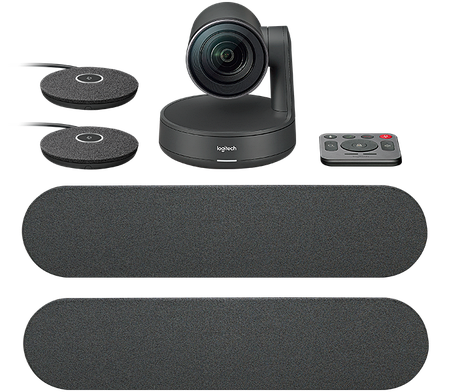 Управляемая веб-камера Logitech Rally Plus с 2 спикерфонами, фото 2
