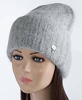 Вязаная шапка-колпак Ласфе цвет дымка