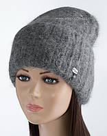 Вязаная удлиненная шапочка Ласфе цвет маренго