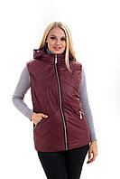 Женская жилетка с капюшоном на силиконе в 54-64 размере