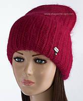 Удлиненная вязаная шапочка Ласфе цвет рубин