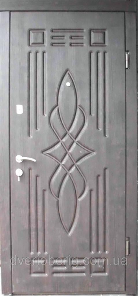 Входная дверь модель П2-296 тик темный