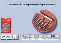 Набор насадок с держателем 7шт., Top Tools 39D381