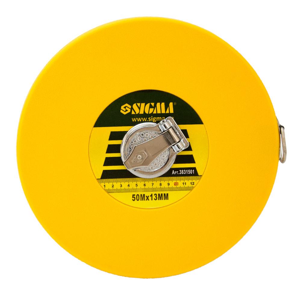 Рулетка стекловолокно 50м*13мм Sigma (3831501)