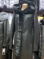Женская дубленка , с мехом норки . размеры 44-68