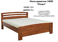 """Кровать деревянная """"Рондо"""" дерево бук, цвет орех"""