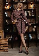 Женское платье-рубашка в клетку