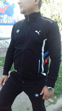 Мужской спортивный костюм Puma BMW х/б, фото 2