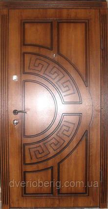 Входная дверь модель П3-361 дуб золотой +патина, фото 2