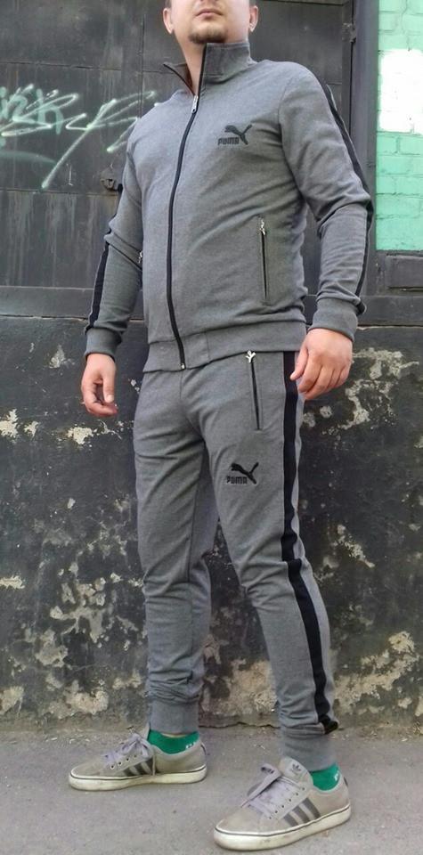 Мужской спортивный костюм Puma х/б
