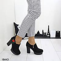 Демисезонные женские ботильоны на каблуке, фото 1