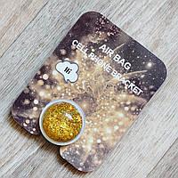 PopSocket попсокет аквариум с золотыми блестками. Подставка-держатель для смартфона.