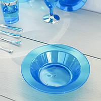 Одноразовая посуда тарелки глубокие 6 шт 350 мл для фуршета и кейтеринга Capital For People синяя.