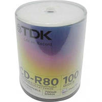Диски TDK CD-R 700Mb 52x Cake 100 pcs Printable