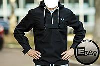 Чёрная куртка ветровка анорак Fred Perry есть опт, фото 1