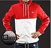 Красно-белая куртка ветровка анорак Fred Perry есть опт