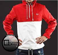 Красно-белая куртка ветровка анорак Fred Perry есть опт, фото 1