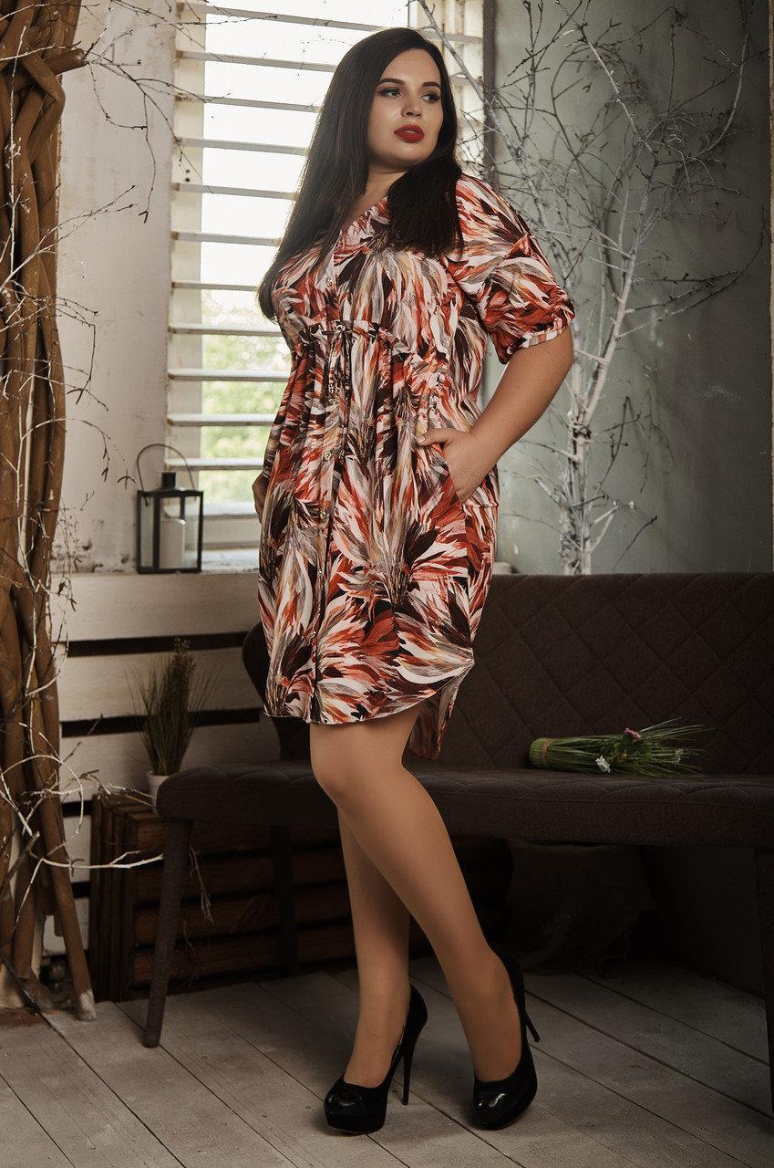Платье из легкой ткани 519-5
