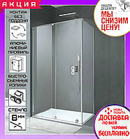 Прямоугольная душевая кабинка 120x90 см Volle Teo 10-22-333 левая