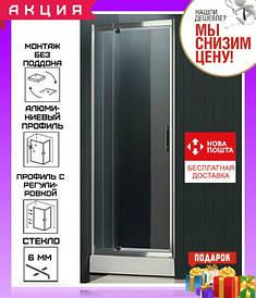 Душевая дверь в нишу 90-100 см с регулируемой шириной Atlantis PF-15-1
