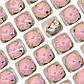 Стразы в цапах Круг 8мм Розовый Смола, 12шт., фото 2