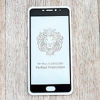 Защитное стекло 2,5D Full Glue для Meizu M5 Note (black) (клеится всей поверхностью)