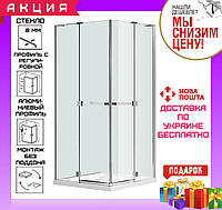 Душевая кабина квадратная 90x90 см распашные двери Eger Rubik 599-333/1 без поддона
