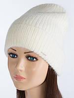 Теплая шапка-колпак Крит цвет молочный