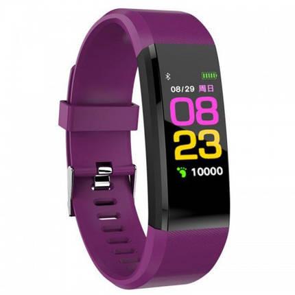Умные фитнес часы id115 Plus Violet, фото 2