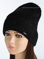 Вязаная шапка-колпак Крит цвет черный