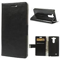 Чехол книжка для LG G3S BEAT D724, D722, D725, D728 боковой с отсеком для визиток, PREMIUM