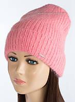 Женская удлиненная шапочка Крит цвет персик